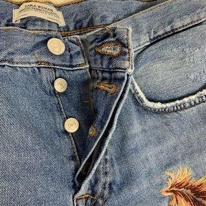 Zara Jeans - Zara women distressed jeans, size 8